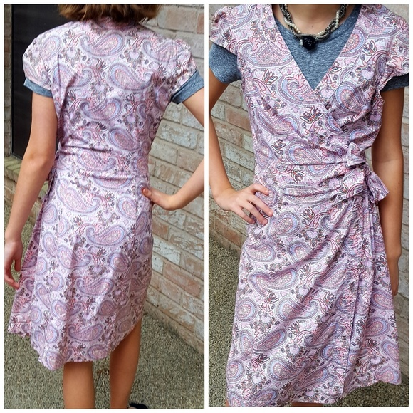 2ab1746cb69 Tommy Hilfiger Dresses | Paisley Wrap Dress S | Poshmark